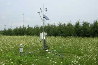 Enviroweather weather station at Belding, MI