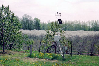 Enviroweather weather station at Benzonia, MI