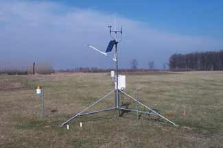 Enviroweather weather station at Clarksville, MI