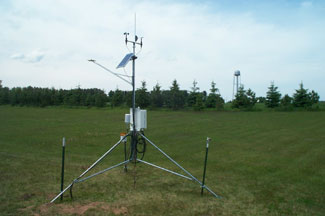 Enviro-weather weather station at Chatham, Michigan