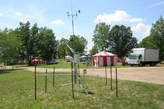 Enviroweather weather station at East Lansing (Ag Expo), MI