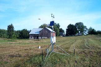 Enviroweather weather station at East Leland, MI