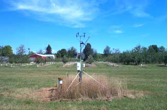 Enviroweather weather station at Elk Rapids, MI