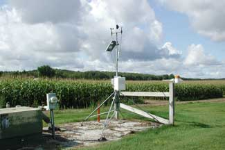 Enviroweather weather station at Entrican, MI