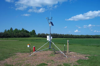 Enviroweather weather station at Escanaba, MI