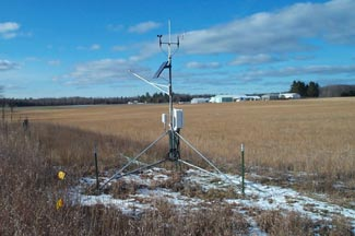 Enviroweather weather station at Hawks, MI