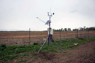 Enviroweather weather station at Hudson, MI