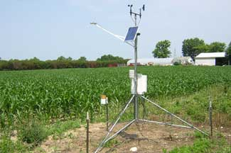 Enviroweather weather station at Hartford, MI