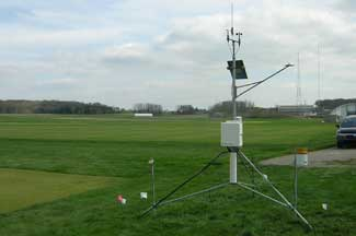 Enviroweather weather station at East Lansing (HTRC), MI