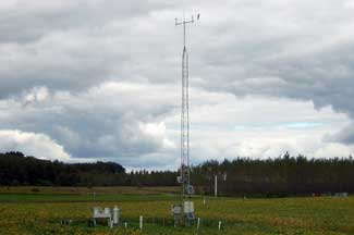 Enviroweather weather station at Hickory Corners (KBS), MI
