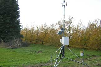 Enviroweather weather station at Kent City, MI