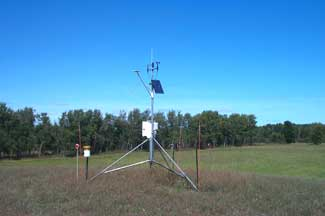 Enviroweather weather station at Kewadin, MI