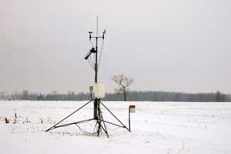 Enviroweather weather station at Linwood, MI