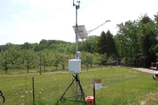 Enviroweather weather station at Casco / Luxemburg, WI