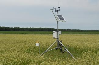 Enviroweather weather station at McMillan / Newberry, MI