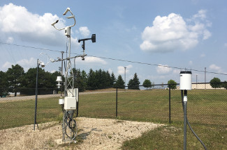 Enviroweather weather station at Mount Pleasant (CMU), MI