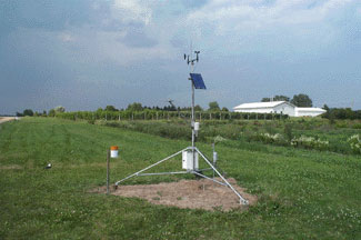 Enviro-weather weather station at East Lansing (MSUHort), Michigan