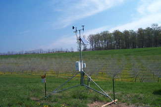 Enviroweather weather station at Northport, MI