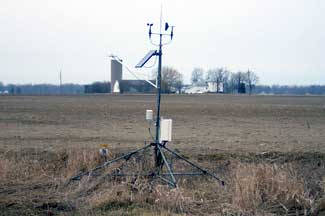 Enviro-weather weather station at Pigeon                                                                                              , MI