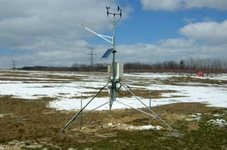 Enviroweather weather station at Romeo, MI