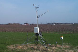 Enviroweather weather station at Sparta, MI