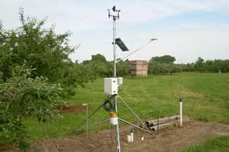 Enviroweather weather station at Lawrence / Teapot Dome, MI